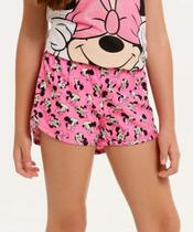 Short Infantil Estampa Minnie Disney Tam 4 A 10 -