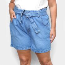 Short Jeans Cambos Plus Size Clochard Feminino -