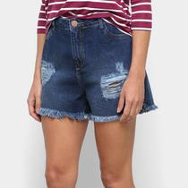 Short Jeans Malwee Comfort Feminino -