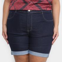 Short Jeans Xtra Charm Plus Size + Cinta Modeladora Feminino -