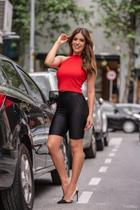 Short Miss Misses Biker de Cirrê Preto - Miss & Misses