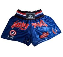 Short Muay Thai Infantil Fight Brasil Kids Azul