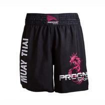 Short muay thai masculino - preto - gg - Progne