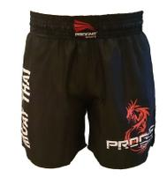 Short Muay Thai Masculino Preto Progne Sports