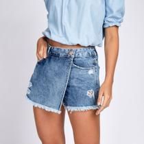 Short Saia Jeans Destroyed - Bloom