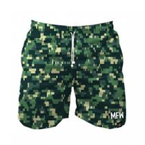 Short Tactel Masculino Camuflado Pixels Com Bolsos - Maromba fight wear