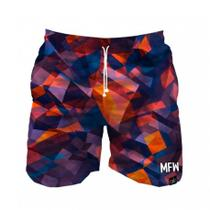 Short Tactel Masculino Flowers Abstract Com Bolsos - Maromba fight wear
