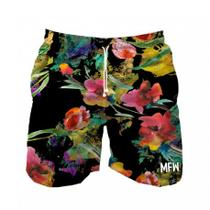 Short Tactel Masculino Flowers com bolsos - Maromba fight