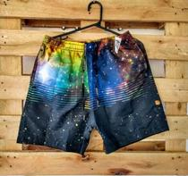 Short Tactel Praia Masculino Adulto Estampado - Evolutiva