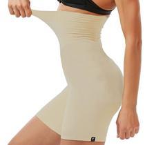 Shorts Cintura Alta Cinta Modeladora de Altíssima Compressão - Slim Fitness -