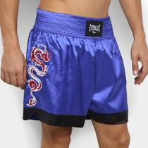 Shorts De Muay Thai/Boxe Everlast Bordados Laterais -