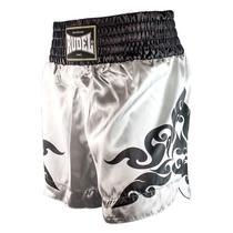 Shorts de Muay Thai Cetim MT12 Corner Silver Rudel Sports -