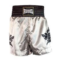 Shorts de Muay Thai Cetim MT13 Dragão Silver Rudel Sports -