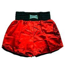 Shorts de Muay thai Cetim Vermelho Rudel Sports -