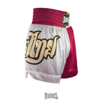 Shorts de Muay Thai MT 09 Lumpi Vermelho e Branco Rudel Sports -