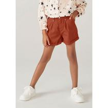 Shorts Infantil Menina Clochard Em Sarja - Hering