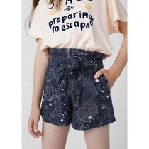 Shorts Infantil Menina Clochard Em Viscose - Hering