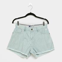 Shorts Jeans Roxy Stripe Days Feminino -