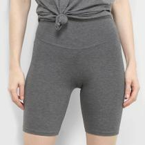 Shorts Lecimar Cotton Liso Feminino -