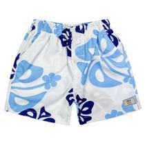 Shorts Look Jeans Elástico Estampado -