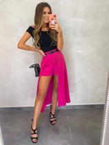 Shorts Saia Midi Raquel Pink - Chocoleite