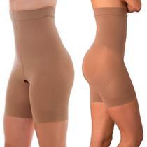 Shorts Slim modeladora para Afinar a cintura com abertura higiênica Loba Lupo -