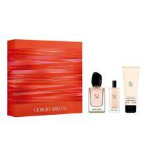 Sì Giorgio Armani Kit  Perfume Feminino EDP + Travel Size + Leite Corporal -