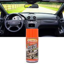 Silicone Líquido Perfumado Luxcar Carro Novo 100ml Brilho Proteção UV para Plástico Borracha e Inox -