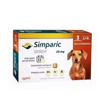 Simparic Antipulgas  20mg para Cães 5 a 10 Kg - 3 Comprimidos - Zoetis