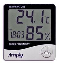 Simpla th01 termo-higrometro digital com relogio e alarme - Akso