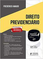 SINOPSES PARA CONCURSOS V. 27 - DIREITO PREVIDENCIARIO  (11ª EDIÇÃO 2020) - Juspodivm -