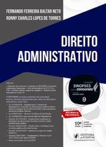 Sinopses Para Concursos - Volume 9 - Direito Administrativo - 10ª Edição  (2020) - Juspodivm -