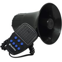 Sirene 12V Tech One 7 Tons Microfone Megafone Buzina Policia Militar Tipo Rontan Bombeiro Carro Moto -