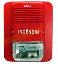 Sirene Eletrônica P/ Incêndio Com Iluminação 105db - 100ma - Dni