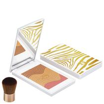 Sisley Phyto-Touche Poudre Éclat Soleil Trio Pêche Dorée - Bronzer e Blush Luminoso 11g -
