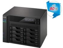 Sistema de Backup e Video Vigilancia NAS Asustor AS6208T INTEL Quad Core J3160 1.6GHZ 4GB DDR3 Torre 8 Baias -