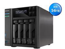Sistema De Backup Nas Asustor As6204t Intel Quad Core J3160 1,6ghz 4gb Ddr3 Torre 4 Baias Hot-swap -