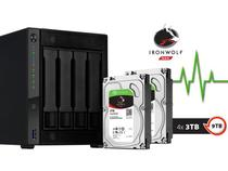 Sistema de Backup NAS com Disco Ironwolf Asustor AS4004T12000  Marvell 1,6GHZ 2GB DDR4 Torre 12TB  HOT-SWAP -