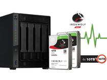 Sistema de Backup NAS com Disco Ironwolf Asustor AS4004T40000 Marvell 1,60GHZ 2GB DDR4 Torre 40TB HOT-SWAP -
