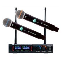 Sistema Microfone Sem Fio Digital Duplo TSI-1200 UHF - TSI -