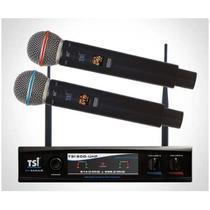 Sistema Microfone Sem Fio Digital Duplo TSI-900 UHF - TSI -