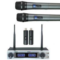 Sistema Microfone Sem Fio Vokal VLR-502 - Mao Duplo -