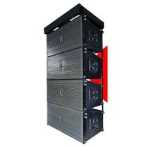 Sistema profissional eco som conjunto de quatro line arrays la112 nd passiva -