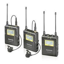 Sistema sem fio duplo para câmera com microfone lapela duplo - Geral