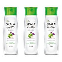 Skala Maçã Verde e Malva Shampoo 325ml (Kit C/03) -