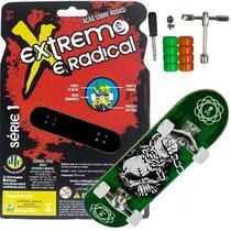 Skate de Dedo Extremo E Radical Caveira Com Acessórios - Dtc