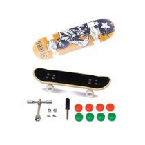 Skate De Dedo Extremo E Radical Série 1 Amarelo Preto - Dtc