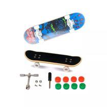 Skate De Dedo Extremo E Radical Série 1 Azul Preto - Dtc