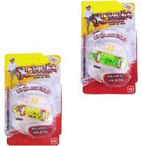 Skate De Dedo X-Finger Radical Com Luz E Acessorios A Bateria Na Cartela Wellkids - Wellmix