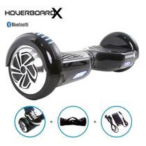 Skate Elétrico 6,5 Preto HoverboardX Bluetooth e Bolsa -